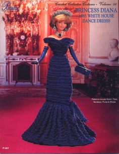 Barbie, Crochet Collector Costume Vol. 56 pattern http://knits4kids.com/collection-en/library/album-view?aid=2188