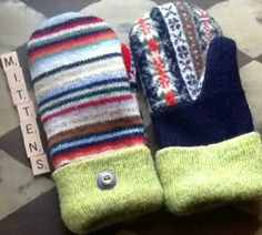 Recycled Wool Sweater Mittens https://www.etsy.com/shop/TreasuredHeart?ref=si_shop