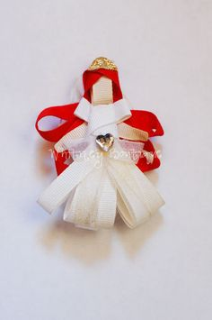 Disney Wedding Ariel ribbon sculpture Hair Clip