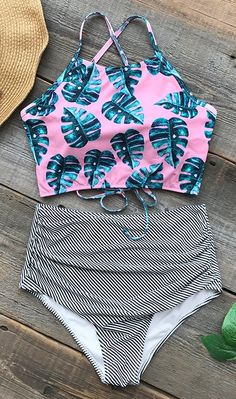 No matter where you planning on spending vacation near sea or attend poolside party, a glamorous swimsuit like this one gonna be your best choice. High-waisted and shirring bottom design & Hot lace-up at back. You gonna fall in love with it! FREE shipping! Shop Now!