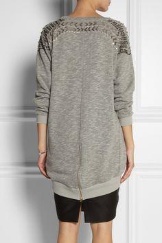 DAY Birger et Mikkelsen | Embellished cotton-jersey sweatshirt | NET-A-PORTER.COM