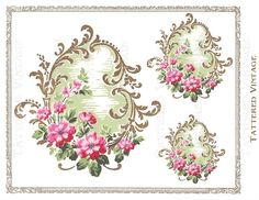 PNG Floral Instant Download no.216 Victorian by tatteredvintage, $5.25