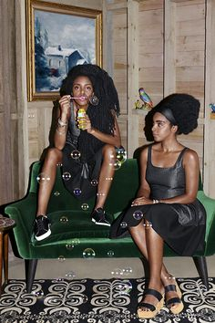 Quann sisters for The Gap Black Girl Magic, Black Girls, Black Women, My Beautiful Friend, My Black Is Beautiful, Quann Sisters, Big Afro, Mario, Looks Black