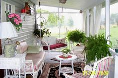 screened in porch decorating ideas | SCREENED IN PORCH, I finally got a screened in porch I did it myself ...