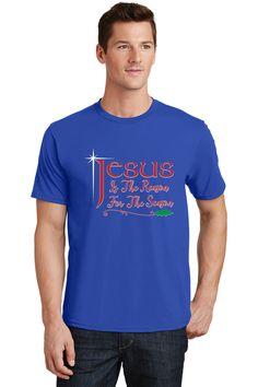 Men's Jesus is the Reason Plus Size Scoop Neck T-Shirt, 4X-Large, Black