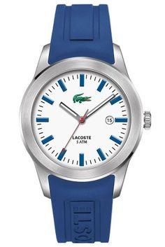 #Lacoste Men's Advantage #Blue Rubber #Watch
