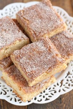 These Snickerdoodle Blondies are one of the easiest treats you willever make! Perfect for the holidays!