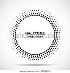 Black Abstract Halftone Logo Design Element, vector illustration  - stock vector