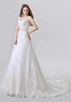 Tulle A Line Wedding Dress