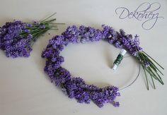 Lavendel | Lavender. Ghirlanda di lavanda - tutorial