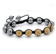 Champagne Crystal Shamballa Bracelet