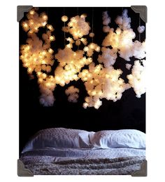 I so want some awesome lighting like this above my bed.