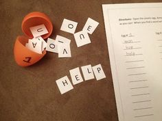 Each Egg has a different set of letters in it so that the students can do the activity multiple times. Have them see how many words they can make and record them!