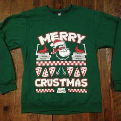 Limited edition #SKApparel holiday sweaters from 2015. Completely original Teenage Mutant Ninja Kong + pizza mashup. #screenprinting #ShirtKong #MerryCrustmas #pizza #TeenageMutantNinjaTurtles #TMNT #STL