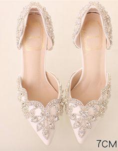 ccf43ac9b41814 Women Ivory White Swarovski Wedding Sandal Shoe