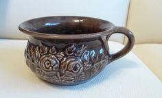 Vintage GULDKROKEN HJO 7404/1 Sweden home decor brown VASE flower pot bowl #GULDKROKENHJO