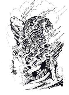a tattoo idea i got from all the dragon vs tiger designs i