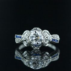 Edwardian Diamond Engagement Ring   Edwardian Jewelry