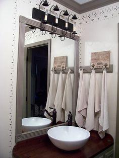 Added peg rack and linen towels to bath...Linda B. Please visit my site: www.picturetrail.com/theprimitivestitcher