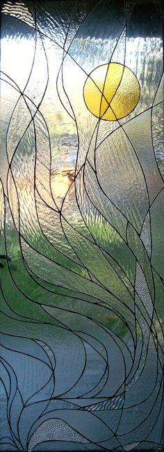 Sunrise Through the SmokeFall, 2007 by Mary Driver Mosaics and Stained Glass