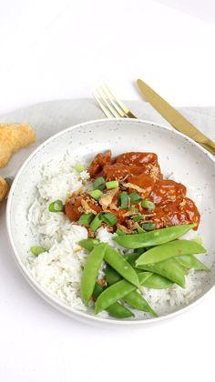 Ajam pangang met sugarsnaps en rijst.. Heerlijk! Snack Recipes, Snacks, Fabulous Foods, Slow Cooker Recipes, Risotto, Paleo, Meals, Chicken, Cooking