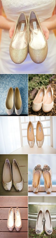 These are wedding flats but I'm pinning it because I'm always looking for dress flats instead of heels--29 Pairs of Wedding Flats because some girls are just too tall