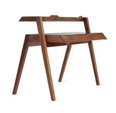 """Desk - DSW - Primary Desk by Nathan Yong - Material: Solid American walnut frame and drawer fronts; walnut veneer over MDF desktop and small drawer boxes. Measurements: H 37.75 - W 47.25"""" - D 30"""""""