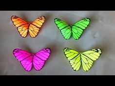 Origami Butterfly: Room decor 🦋 Origami for Beginners: Wall Decorating Ideas - DIY - Gift idea Origami Rose, Origami 3d, Origami Folding, Origami Flowers, Origami Paper, Diy Paper, Paper Crafts, Quilling Butterfly, Butterfly Room