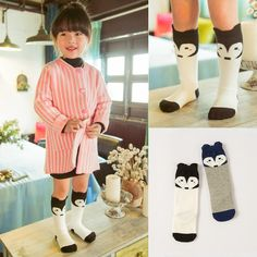 Toddler Baby Fox Socks Knee Length Socks Cute GirlsSocks Knitting Socks Leggings Western Kids Cute Cotton Socks Free Shipping-in Socks from Men's Clothing & Accessories on Aliexpress.com | Alibaba Group