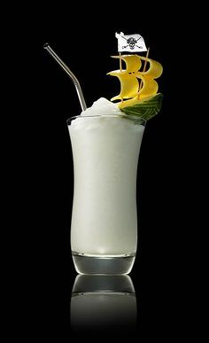 Piña Thunder (1.5 oz Captain Morgan Pineapple Rum .5 oz Lime Juice 1 oz Cream of Coconut .5 oz Coconut Water .5 oz Pineapple Juice)