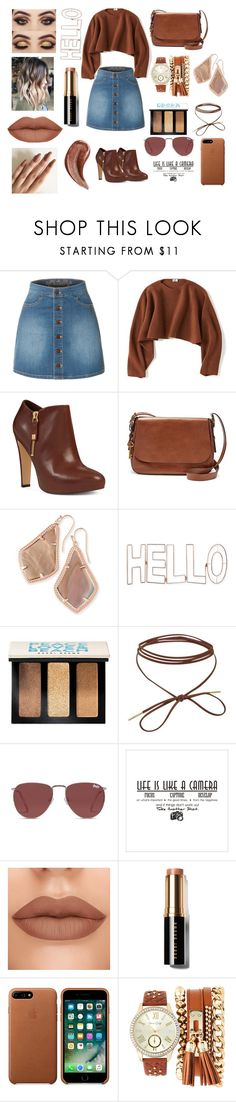 """""""Ready for tomorrow"""" by carrell2020 ❤ liked on Polyvore featuring LE3NO, Uniqlo, Nine West, FOSSIL, Kendra Scott, Graham & Brown, Bobbi Brown Cosmetics, Superdry, Jessica Carlyle and Gucci"""