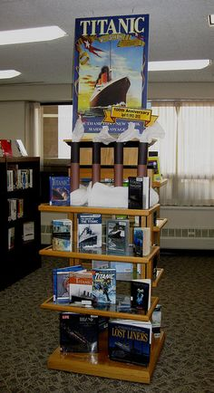 Titanic display at our library
