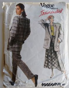 Vintage 1986 Vogue Individualist 1687 Tamotsu by CartrefEclectig