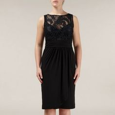 f4188ff806ef5 Alexon Lace Top Jersey Dress- at Debenhams.com