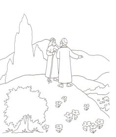coloring pages rich young ruler - photo#25