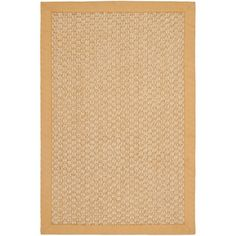 @Overstock.com - Chunky Basketweave Maize Beige Sisal Rug - Choose this contemporary sisal rug to quickly improve the decor of your home. It has a clean border made from light yellow fabric. That hue blends well with the soft shades of beige in the main part of the piece. The handwoven weave adds authenticity.  http://www.overstock.com/Home-Garden/Chunky-Basketweave-Maize-Beige-Sisal-Rug/7573393/product.html?CID=214117 $22.94