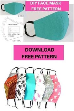 Easy Face Masks, Diy Face Mask, Homemade Face Masks, Sewing Patterns Free, Sewing Tutorials, Free Pattern, Pattern Sewing, Tutorial Sewing, Clutch Tutorial