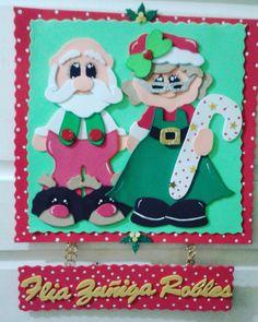 Adorno navideño. Sr y Sra Santa