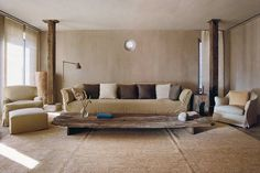 Axel Vervoordt, NYC Greenwich hotel penthouse traditional simplicity. Muted tones