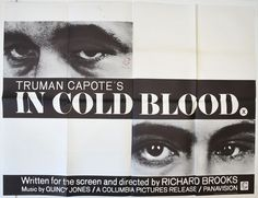 Cinema Posters, Film Posters, Quad, John Forsythe, John Collins, The Criterion Collection, Quincy Jones, In Cold Blood, Press Kit