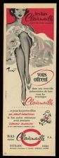1960 sexy woman's legs art Clairmaille stockings French vintage print ad