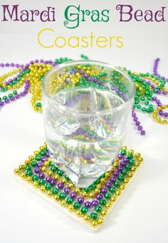 Great easy and functional decor with your Mardi Gras Beads!