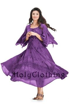 #holyclothing In Purple Passion: http://holyclothing.com/index.php/belladonna-peasant-bustier-empire-waist-gypsy-boho-corset-dress.html