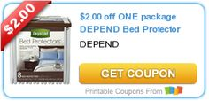 $2.00 off ONE package DEPEND Bed Protector #coupon