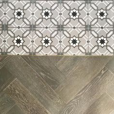 Hallway details where the tiles meet the wood can always be really unsightly that's why I opted to go for a solid brass threshold to… Herringbone Wooden Floors, Wood Tile Floors, Solid Wood Flooring, Tiled Hallway, Hallway Flooring, Floor Patterns, Tile Patterns, Small Hallways, Encaustic Tile