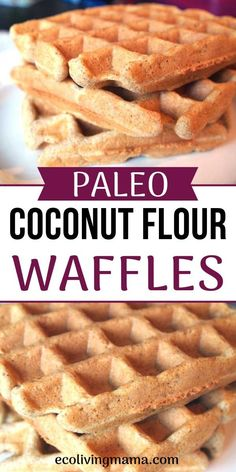 Coconut Flour Waffle Recipe - Grain Free, Sugar Free, Paleo - Coconut flour waffles are the perfect breakfast or brunch treat. These paleo waffles are grain-free, sugar-free and come together in a blender or food processor in just a few minutes. Coconut Flour Waffles, Desayuno Paleo, Gluten Free Waffles, Grain Free Waffle Recipe, Sugar Free Waffles, Paleo Pancakes, Paleo Treats, Paleo Food, Waffle Recipes
