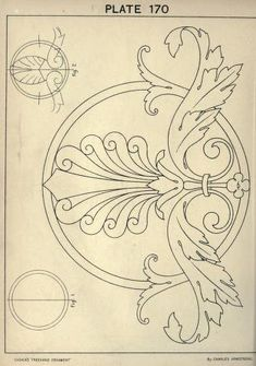 see site for many more - 1895 - Cusack's freehand ornament. A text book with chapters on elements, principles, and methods of freehand drawing, for the general use of teachers and students . by Armstrong, Charles Mais Motifs Art Nouveau, Ornament Drawing, Carving Designs, Leather Pattern, Motif Floral, Arabesque, Islamic Art, Wood Carving, Leather Craft