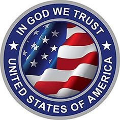 ProSticker 1072 (One) Military Series in God We Trust, United States of America Flag Decal Sticker Pray For America, I Love America, God Bless America, American Pride, American History, American Flag Wallpaper, Patriotic Pictures, Let Freedom Ring, Usa Tumblr