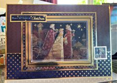 We Three Kings, Making Cards, A5, Peace And Love, Card Ideas, Christmas Cards, Classic, Frame, Painting