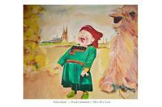 Lachendes Mongolenmädchen mit Dom in Köln